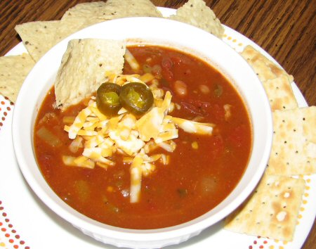 Green Chili Con Carne and Tomatoes